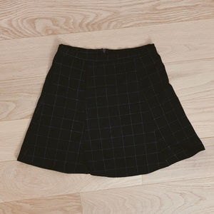 American Apparel Checkered Circle Skirt - Black